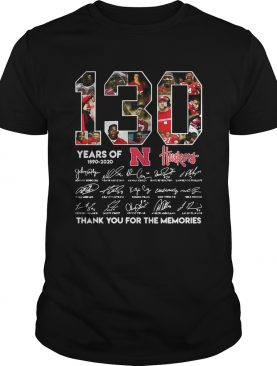 130 Years of Huskers 18902020 thank you for the memories signature shirt