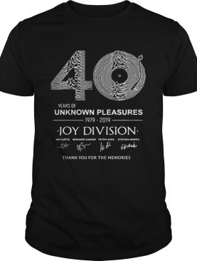 40 year of unknown pleasures 19792019 Joy Division thank you shirt