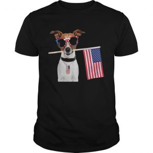 4th Of July American Flag Jack Russel Terrier Dog Tags Shirt Unisex