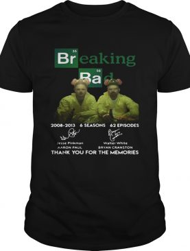 Breaking Bad 6 seasons thank you for the memories shirt