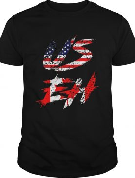 Canadian American US EH Canada Day shirt