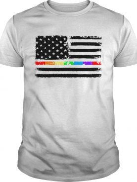LGBT America flag Independence day 4th of July shirt