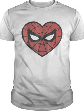Marvel Spiderman Face Mask Valentines Heart Logo Shirt