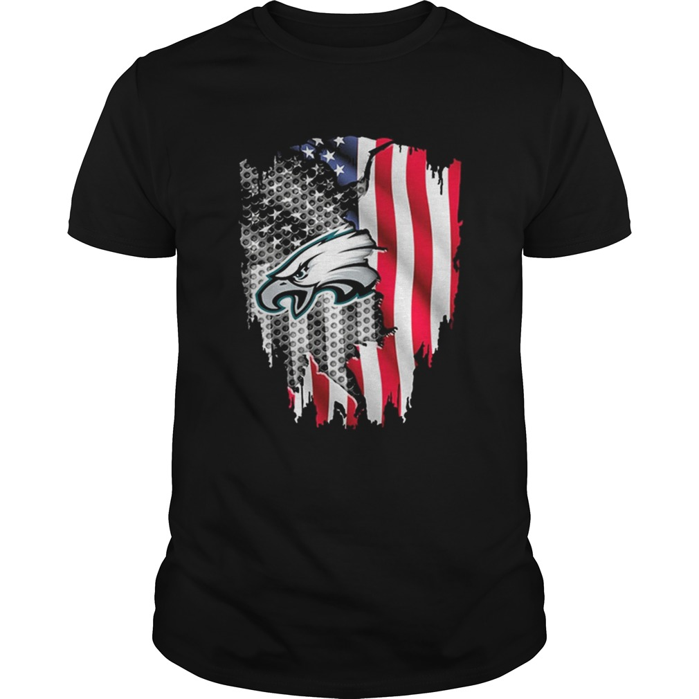 new style 7c733 15d29 Philadelphia Eagles American flag shirt