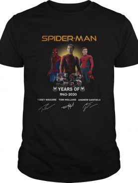 Spider Man 58 years Anniversary 19622020 signature shirt