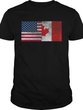 United States Of American And Canada Flag Fourth shirt