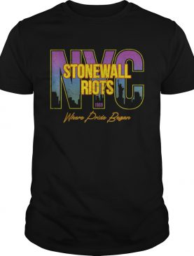 Vintage Rainbow Stonewall Riots NYC LGBTQ Rights Gay Pride shirt