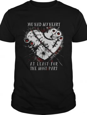 You had my heart at least for the most part shirt