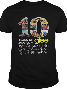 10 years of Glee 2009 2019 signature thank shirt