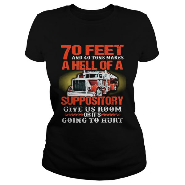 70 feet and 40 tons makes a hell of a suppository give us room  Classic Ladies