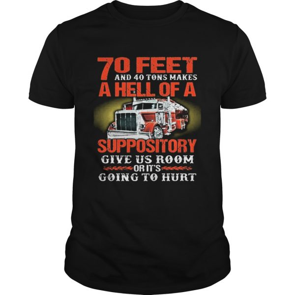 70 feet and 40 tons makes a hell of a suppository give us room  Unisex