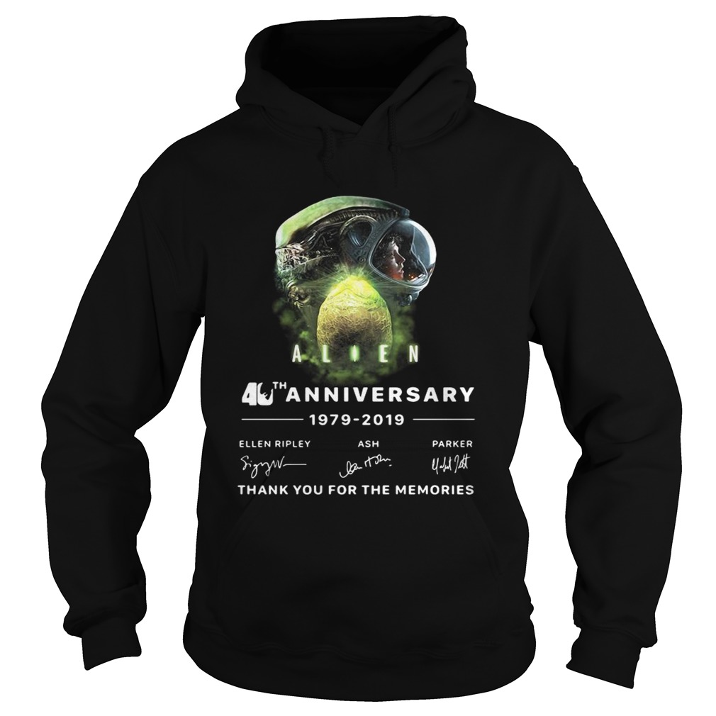 Alien 40th anniversary thank you for the memories signature Hoodie