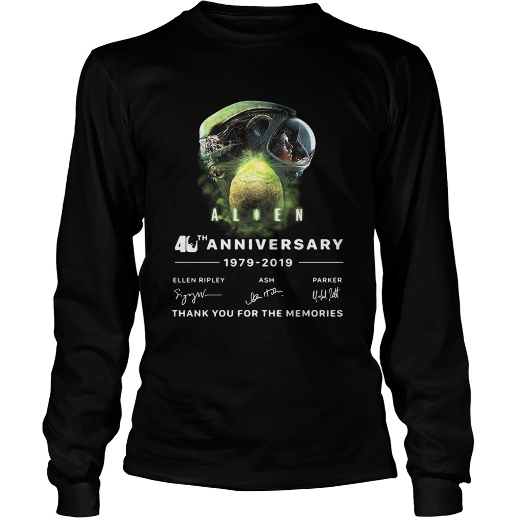 Alien 40th anniversary thank you for the memories signature LongSleeve