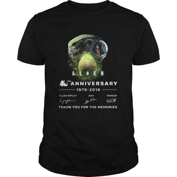 Alien 40th anniversary thank you for the memories signature  Unisex