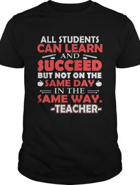 All Students can learn shirt