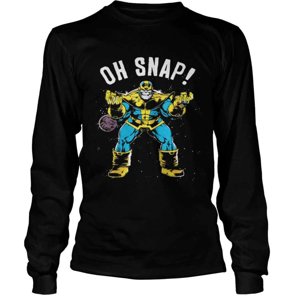 Awesome Marvel Thanos Space Oh Snap Retro Comic Style LongSleeve