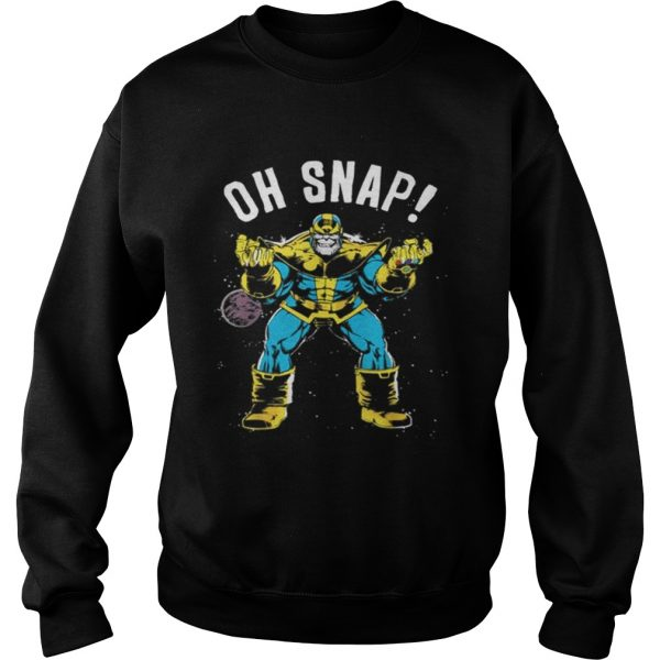 Awesome Marvel Thanos Space Oh Snap Retro Comic Style  Sweatshirt