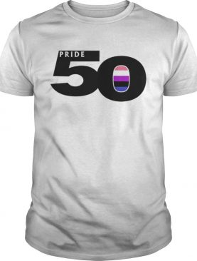 Awesome Pride 50 Genderfluid Pride Flag World Pride 2019 shirt