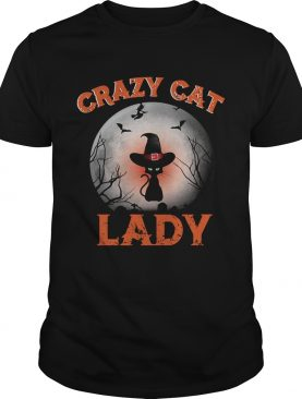 Crazy cat lady moon Halloween shirt