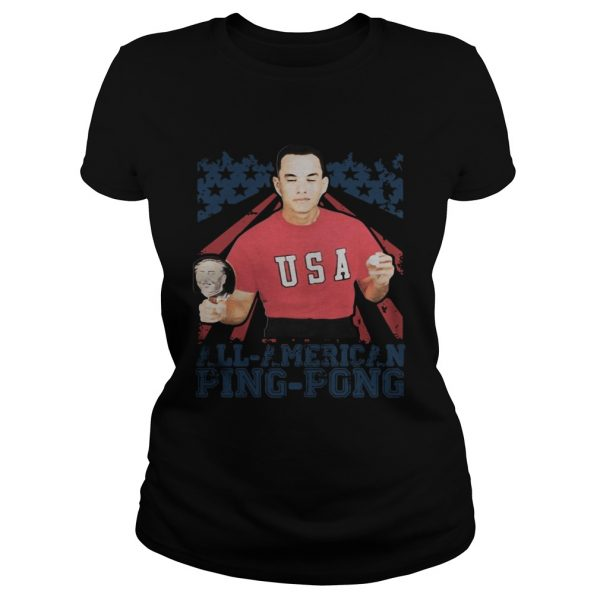 Forrest Gump American Flag All American Ping Pong  Classic Ladies