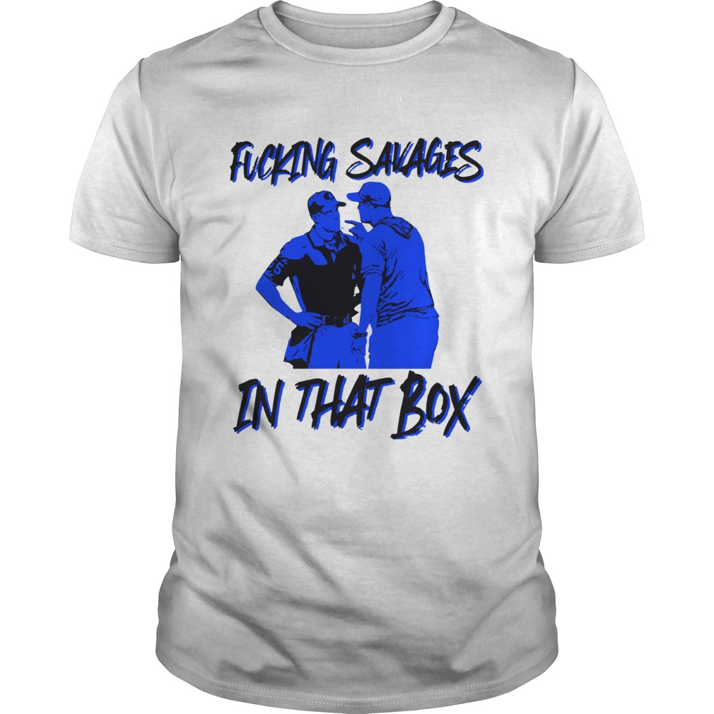 Fucking Savages in that box Aaron Boone