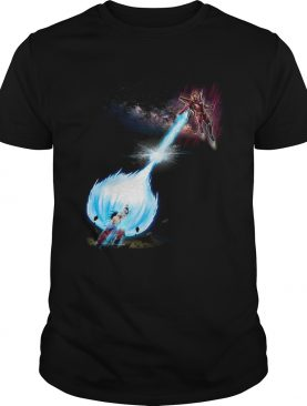 Goku and Iron Man fight shirt