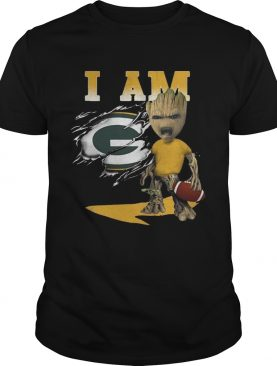 I Am Green Bay Packers Baby Groot shirt
