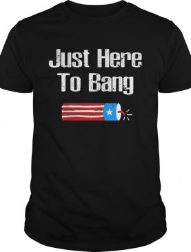 Just Here to Bang Fireworks shirt