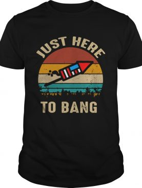 Just here to bang 4th of july vintage sunset shirt