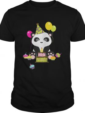 Kids Cute Animal Lovers Panda 6thBoy And Girl shirt