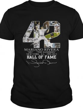 Mariano Rivera New York Yankees Hall of Fame signatures shirt