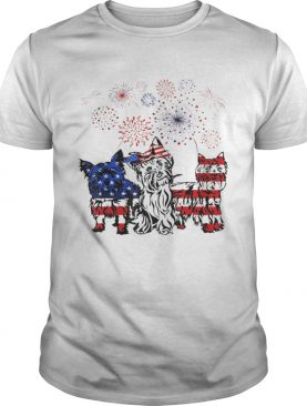 Official Yorkie 4th Of July America Flag Firework Happy Independence Day shirt