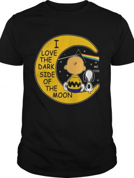 Snoopy and Charlie Brown I love the dark side of the moon shirt