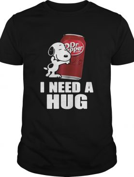 Snoopy hugging Dr Pepper I need a hug shirt