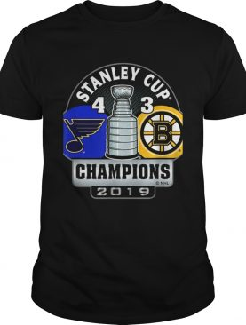 Stanley Cup champions St Louis Blues 4 3 Boston Bruins shirt
