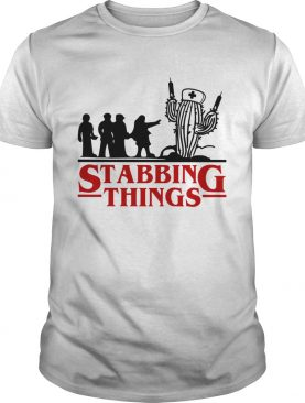 Stranger Things Stabbing Things nurse cactus shirt