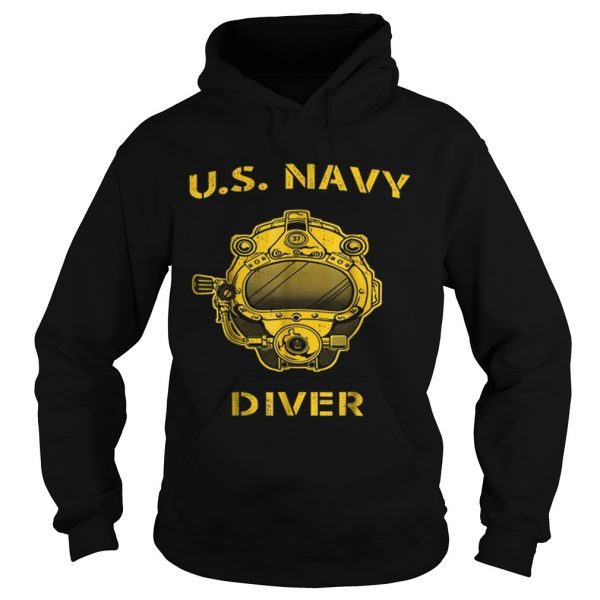 Us Navy Diver Back Only  Hoodie