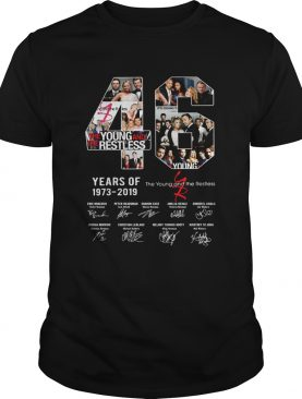 46 years of 1973 2019 the Young and the restless signature shirt