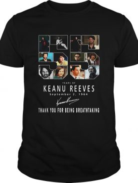 55 Years of Keanu Reeves september 2 1964 thank you for the memories shirt