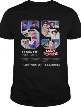 55 years of Mary Poppins 2019 thank you shirt