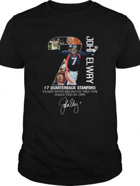 7 John Elway Quarterback Stanford years with Broncos shirt