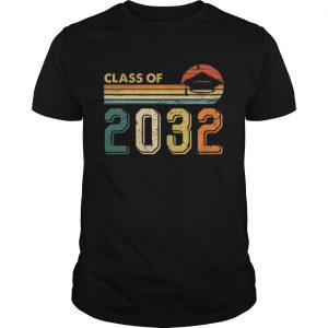 Class Of 2032 Grow With Me Graduate Vintage Retro T Unisex