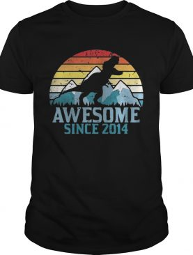 Dinosaur awesome since 2014 vintage shirt