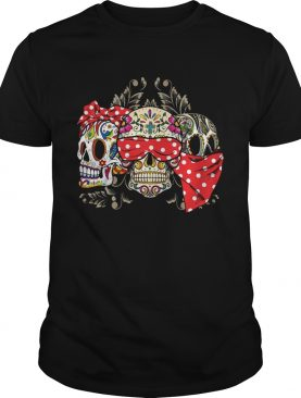 Dont miss this deal on three skull floral shirt