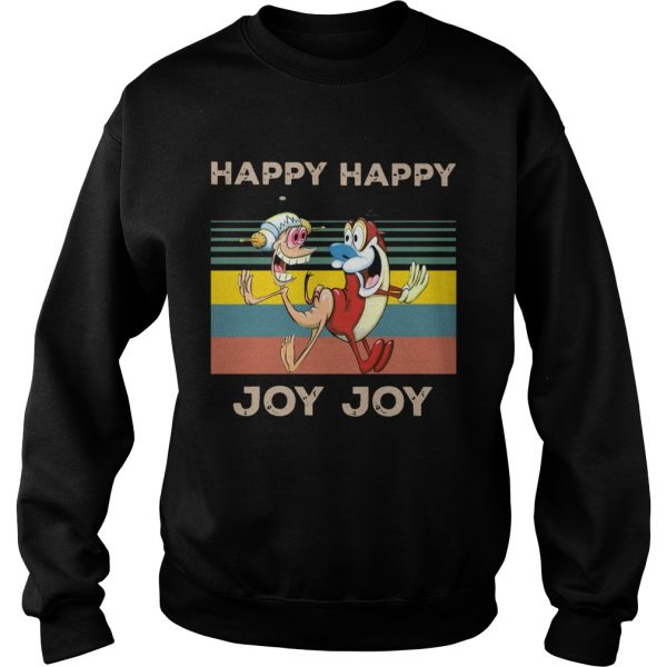 Happy Happy Joy Joy Mighty Fine Ren and Stimpy vintage  Sweatshirt