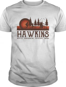 Hawkins Waffles Demogorgons Adventures Indiana Stranger Things shirt
