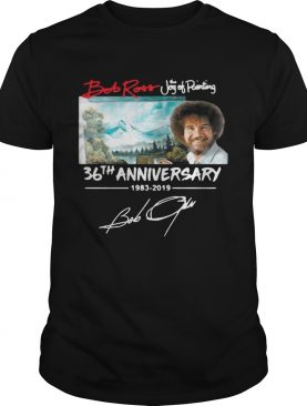Hot Bob Ross The Joy of Painting 36th Anniversary signature shirt