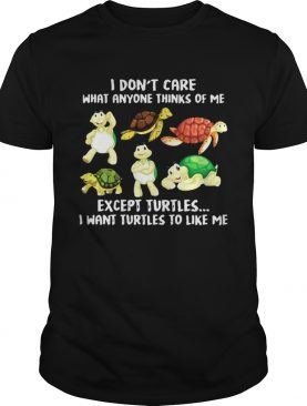 I Dont Care What Anyone Thinks Of Me Except Turtles I Want Turtles To Like Me shirt