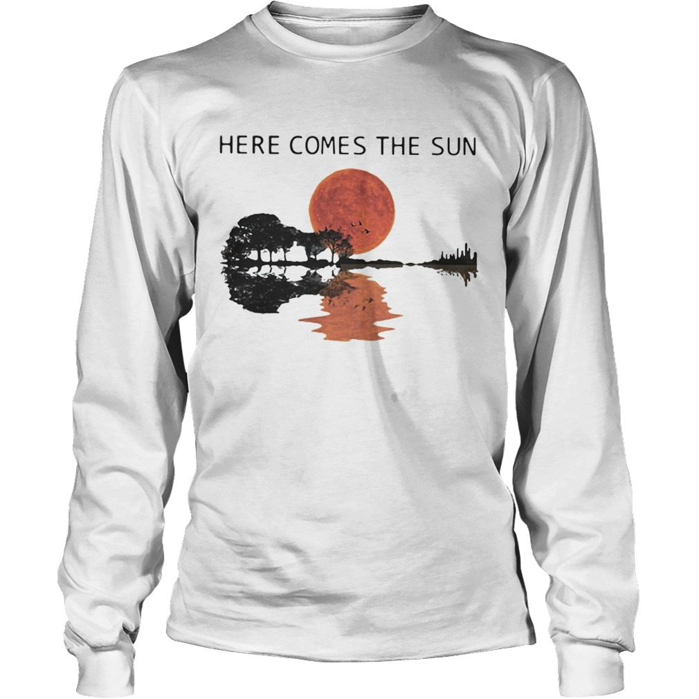 Sunset Guitar lake Here comes the sun LongSleeve