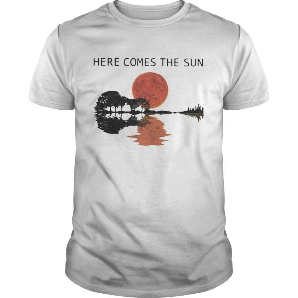 Sunset Guitar lake Here comes the sun  Unisex